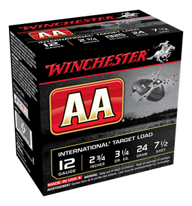 """Picture of WINCHESTER AA INTERNATIONAL 12G 7.5 2-3/4"""" 24GM TARGET SHOTSHELL"""
