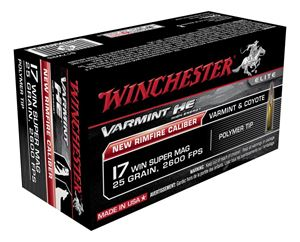 Picture of WINCHESTER ELITE VARMINT HE 17WSM 25GR