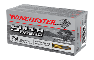 Picture of WINCHESTER SUPER SPEED 22 LONG RANGE 37.5GR HOLLOW POINT COPPER PLATED