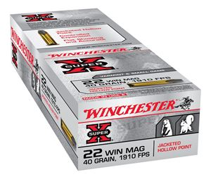 Picture of WINCHESTER SUPER X 22WMR 40GR JACKETED HOLLOW POINT