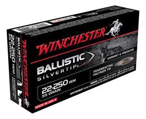 Picture of WINCHESTER SUPREME 22-250 REMINGTON 55GR BALLISTIC SILVERTIP