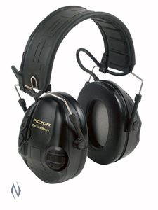 Picture of PELTOR SPORTAC BLACK & RED ELECTRONIC MUFFS